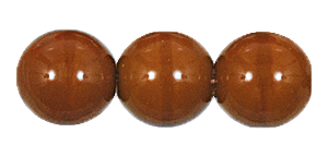 Druk Smooth Round Beads #4150 14MM Opaque Brown (300 Pieces)