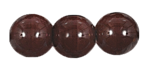 Druk Smooth Round Beads #4150 6MM Opaque Dark Brown (1,200 Pieces)