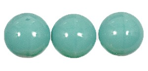 Druk Smooth Round Beads #4150 10MM Opaque Green Turquoise (300 Pieces)