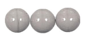 Druk Smooth Round Beads #4150 6MM Opaque Grey (1,200 Pieces)