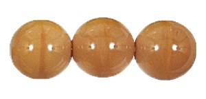 Druk Smooth Round Beads #4150 12MM Opaque Light Brown (300 Pieces)