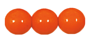 Druk Smooth Round Beads #4150 6MM Opaque Orange (1,200 Pieces)