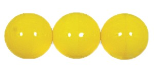 Druk Smooth Round Beads #4150 10MM Opaque Yellow (300 Pieces)
