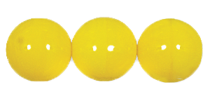 Druk Smooth Round Beads #4150 14MM Opaque Yellow (300 Pieces)