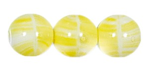 Druk Smooth Round Beads #4150 8MM Yellow Quartz (600 Pieces)