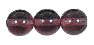 Druk Smooth Round Beads #4150 4mm Amethyst *BULK* (3,600 Pieces) (LOOSE) - CLEARANCE