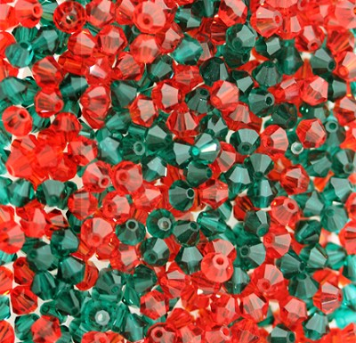 "Preciosa Crystal Bicone Bead ""Christmas Mix"" #6250 4mm (720 Pieces)"