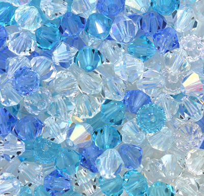 "Preciosa Crystal Bicone Bead ""Winter Mix"" #6250 6mm (288 Pieces)"