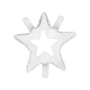 Swarovski 4745/S Star Fancy Stone Setting 5mm Unplated No Holes (720 Pieces)