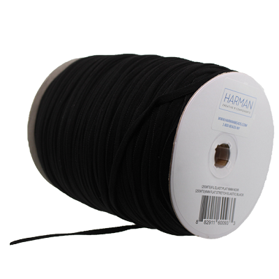 Elastic by the Spool (Flat) 6mm Black (1 Spool)