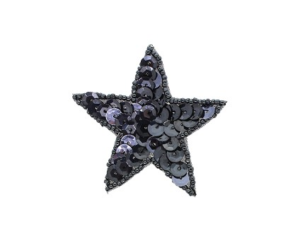 "Star Beaded & Sequin Applique #K8272 2.25"" - CHOOSE YOUR COLOR"