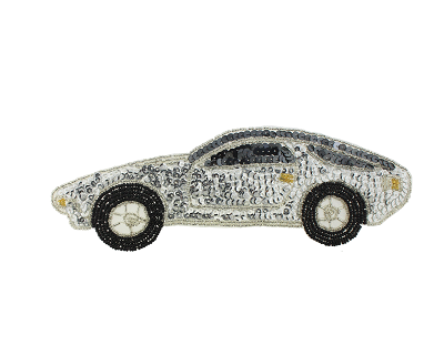 Beaded & sequin applique porsche s8908m