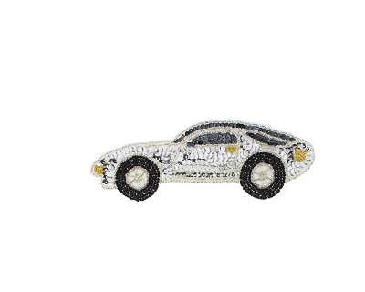 Beaded & sequin applique porsche s8908s