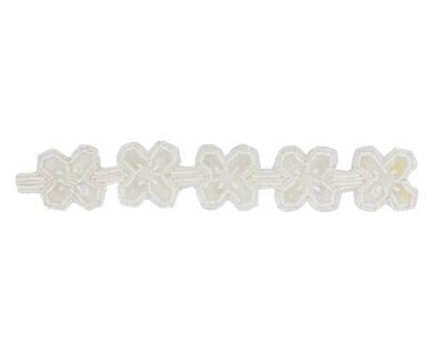 "Beaded & Sequin Trim Banding #S8918 1 1/2"" (1 Meter)  - CHOOSE YOUR COLOR"