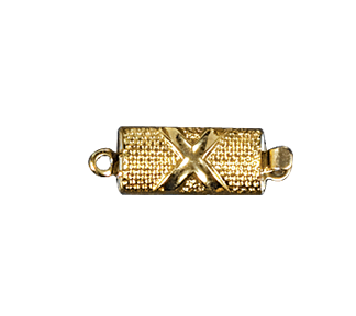 Clasps #6147 Gold 18mm 1 Row (12 Pieces)