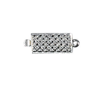 Clasps #6148 Silver 18mm 2 Rows (12 Pieces)
