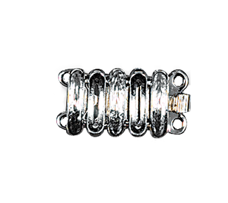 Clasps #6150 Silver 18mm 2 Rows (12 Pieces)