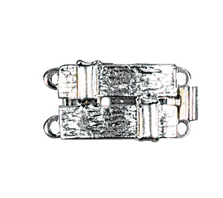 Clasps #6151 Silver 18mm 1 Row (12 Pieces)
