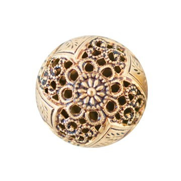 Filigree Metal Button #1961 22mm Antique Gold (12 Pieces) - CLEARANCE