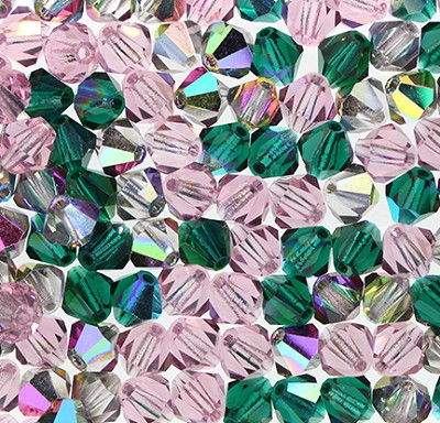 "Preciosa Crystal Bicone Bead ""Purple Haze Mix"" (Mix #19) #6250 6mm (144 Pieces) - CLEARANCE"