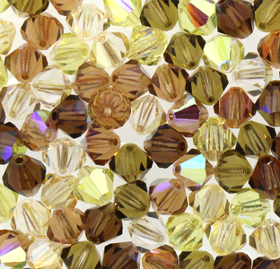 "Preciosa Crystal Bicone Bead ""Autumn Blend Mix"" (Mix #5) #6250 6mm (144 Pieces) - CLEARANCE"