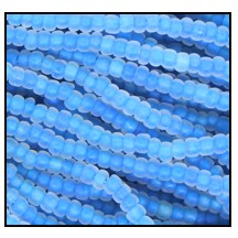 Seed Bead #2100 10/0 38665M Crystal Blue Lined Matt (1/2 Kilo) - CLEARANCE