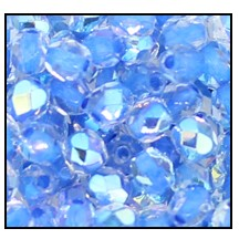 Round Fire Polished Bead #3150 4mm Crystal Blue Lined AB (1,200 Pieces)  - CLEARANCE