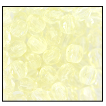 Round Fire Polished Bead #3150 4mm Light Jonquil (1,200 Pieces) - CLEARANCE