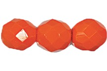 Round Fire Polished Bead #3150 5mm Opaque Orange (1,200 Pieces) - CLEARANCE