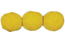 Round Fire Polished Bead #3150 5mm Opaque Yellow (1,200 Pieces) - CLEARANCE