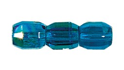 Barrel Fire Polished Bead #3450 6x5mm Capri Blue AB (1,200 Pieces) - CLEARANCE