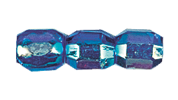 Barrel Fire Polished Bead #3450 6x5mm Sapphire AB (1,200 Pieces) - CLEARANCE