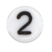 Number & Symbol Beads #7300 White 6mm (100 Pieces) - CHOOSE YOUR NUMBER OR SYMBOL