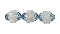 Faceted Cylinder Beads #7536 Crystal/Blue 10x8mm (300 Pieces)