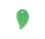 Pressed Leaf Pendants #3809 Peridot 14x9mm (1,200 Pieces) - CLEARANCE