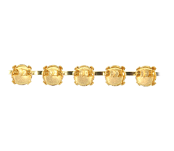 Bracelet Setting #7830 Gold for 1088 SS29 Stones (10 Pieces)