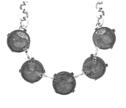 Necklace Setting #7807 Rhodium for 1122 12mm Stones (10 Pieces)
