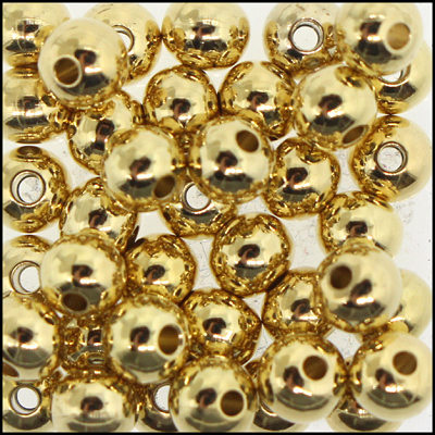 Brass Beads #303 5mm Gold (144 Pieces)