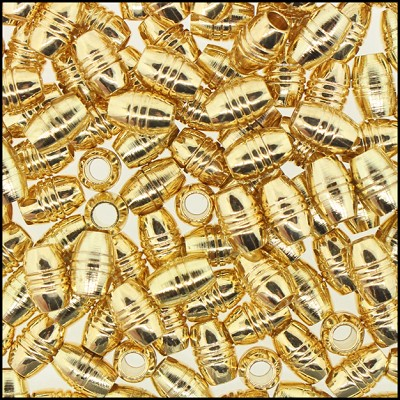 Brass Beads #366 7x5mm Gold (144 Pieces)