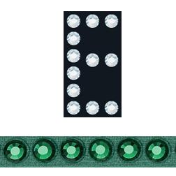 Sticky Crystal Block Letter E Emerald-Emerald | HarMan