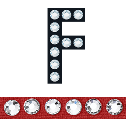 Sticky Crystal Block Letter F Red-Crystal | HarMan