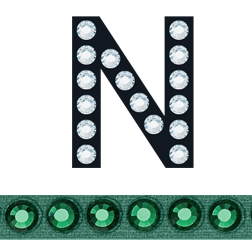 Sticky Crystal Block Letter N Emerald-Emerald   HarMan