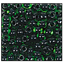 Seed Bead #2100 11/0 50104 Light Green Transparent Black Lined (1/2 Kilo)