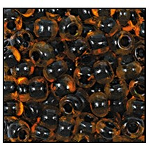 Seed Bead #2100 11/0 90004 Orange Transparent Black Lined (1/2 Kilo) - CLEARANCE