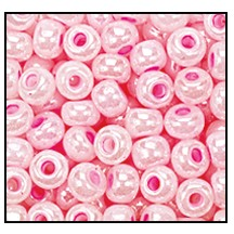 Seed Bead #2100 9/0 37175 Light Pink Opaque Ceylon (1/2 Kilo) - CLEARANCE