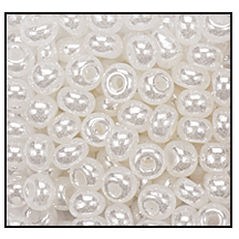 Seed Bead #2100 9/0 47102 Off White Opaque Ceylon (1/2 Kilo) - CLEARANCE