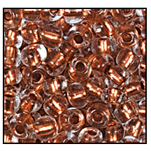Seed Bead #2100 10/0 68105 Crystal Transparent Copper Lined (1/2 Kilo)