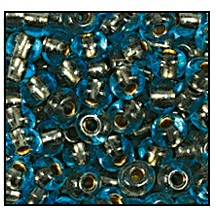 Seed Bead #2100 11/0 69010 Aqua Transparent Copper Lined (1/2 Kilo) - CLEARANCE