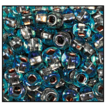 Seed Bead #2100 11/0 69019 Aqua Transparent Copper Lined Iris (1/2 Kilo) - CLEARANCE