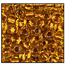 Seed Bead #2100 6/0 89010 Citrine Transparent Copper Lined (1/2 Kilo)